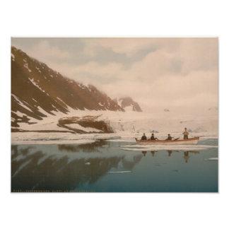 Smeerenburg I, Svalbard, Noorwegen Fotografische Afdruk