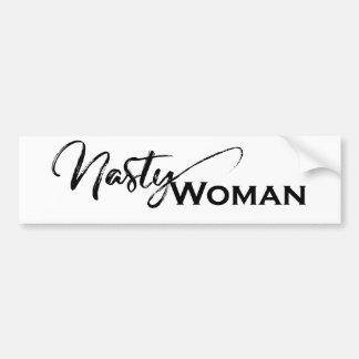 Smerige vrouwen elegante punten bumpersticker