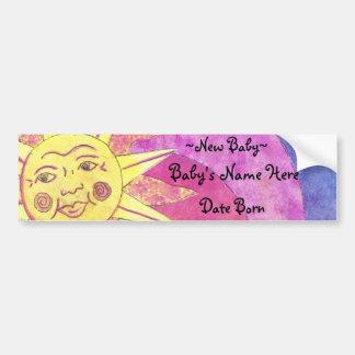 smilely zon nieuw baby bumpersticker
