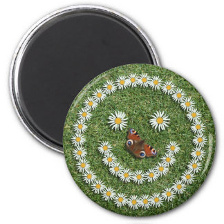 Smiley Daisy Face Magnet Magneet