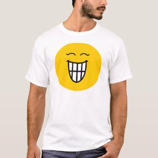 Smiley die met toothy glimlach lacht t shirt