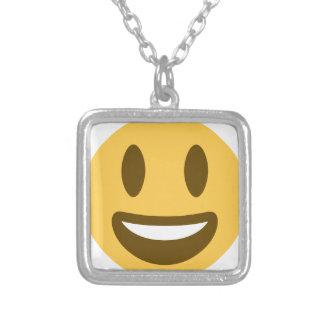 Smiley emoji ketting vierkant hangertje