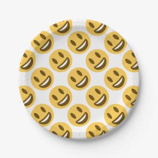 Smiley emoji papieren bordje