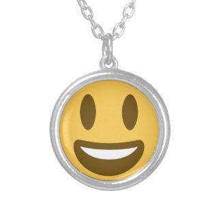 Smiley emoji zilver vergulden ketting