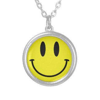 smiley gezicht ketting rond hangertje