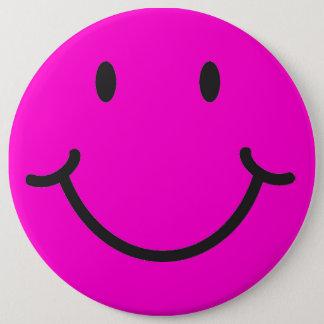 smiley gezicht ronde button 6,0 cm