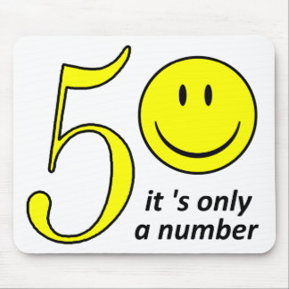 smiley it 's only a number 50 muismat