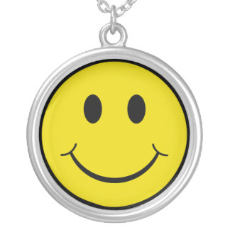Smiley Ketting Rond Hangertje