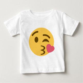 Smiley Kiss Emoji Baby T Shirts