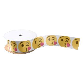 Smiley Kiss Emoji Satijnen Lint
