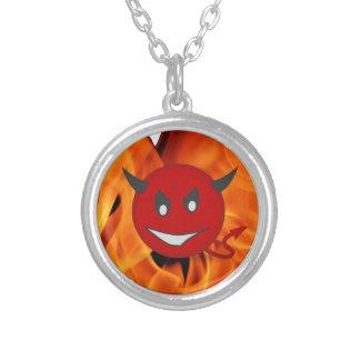 Smiley van de duivel ketting rond hangertje