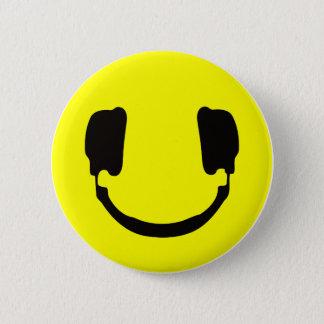 Smiley van DJ Ronde Button 5,7 Cm