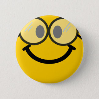 Smiley van Geeky Ronde Button 5,7 Cm