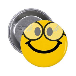 Smiley van Geeky Ronde Button 5,7 Cm