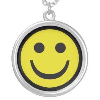 Smiley Zilver Vergulden Ketting