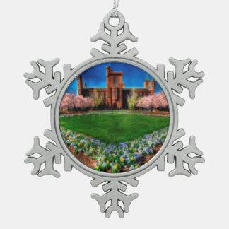 Smithsonian Bloesems van de Kers van de Tuin van Tin Sneeuwvlok Ornament
