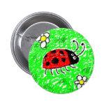 Smudgy Lieveheersbeestje Speld Button