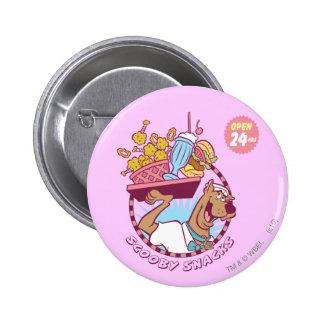 """Snacks van Doo de """"Scooby """" van Scooby Ronde Button 5,7 Cm"""