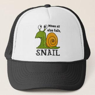 Snailing, wanneer al de rest ontbreekt trucker pet