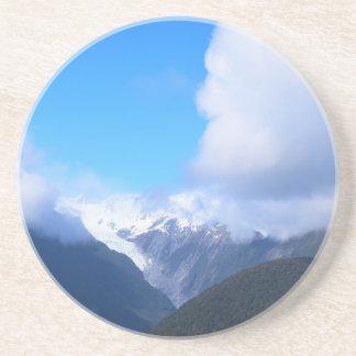 Sneeuw Bergen, de Gletsjer van Nieuw Zeeland, Zandsteen Onderzetter