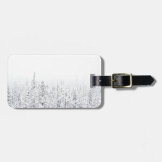 Sneeuw bos bagagelabel