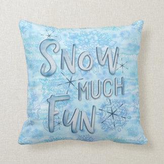 Sneeuw de Sneeuwvlokken van Veel Waterverf van de Sierkussen