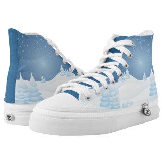 Sneeuw Getipte Bomen High Top Schoenen