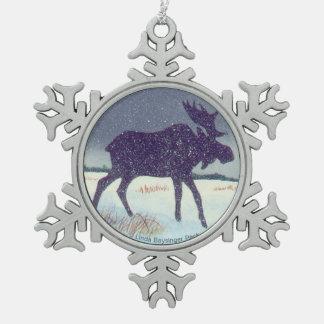 Sneeuw het Bestrooide Schilderen van Amerikaanse Tin Sneeuwvlok Ornament