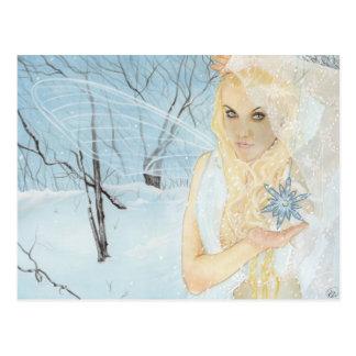 Sneeuw Koningin Fairy Postcard Briefkaart