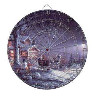 Sneeuw scène dartbord