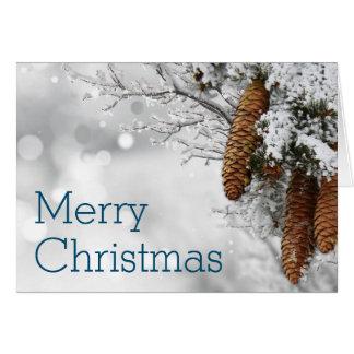 Sneeuw Van Bedrijfs Kerstmis van Boegen Vrolijk Wenskaart