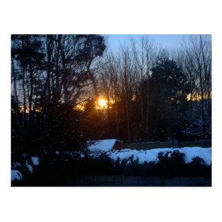 Sneeuw Zonsopgang Briefkaart