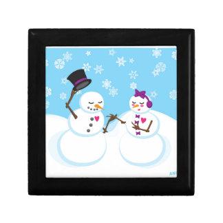 Sneeuwman en Romance Snowgirl Decoratiedoosje