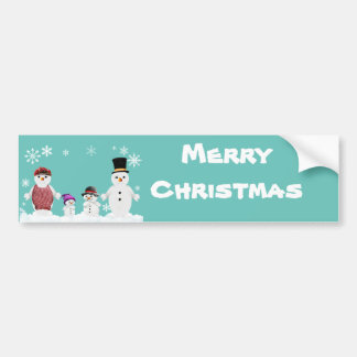 sneeuwman familie bumpersticker