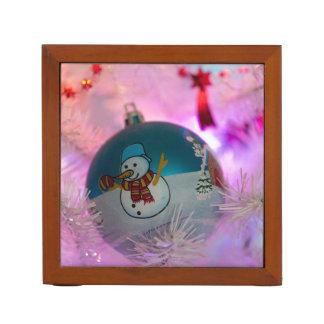 Sneeuwman - Kerstmisballen - vrolijke Kerstmis Pennenhouder