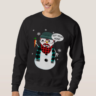 Sneeuwman van Hipster kreeg Uw Neus Trui