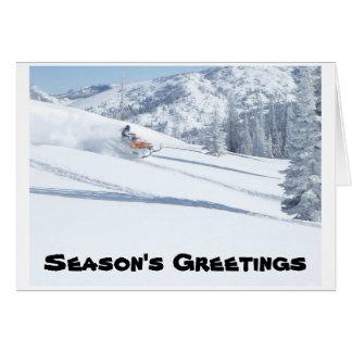 sneeuwscooter, de Groeten van het Seizoen Briefkaarten 0