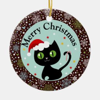Sneeuwvlokken en het Zwarte Ornament van Kerstmis