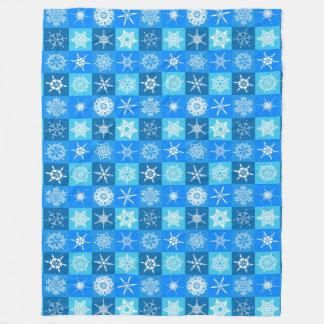 Sneeuwvlokken op de Blauwe Deken van de Vacht