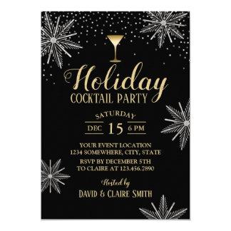 Sneeuwvlokken van de Cocktail party van de Kaart