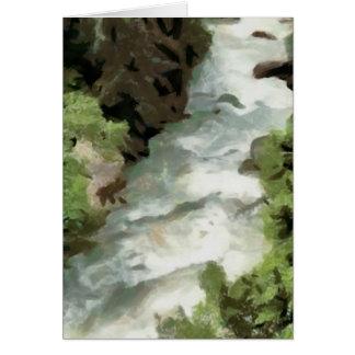Snel bewegende rivier briefkaarten 0