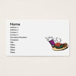 snel voedseldiner maaltijd visitekaartjes