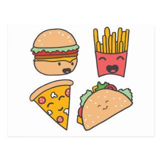 snel voedselvrienden briefkaart