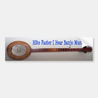 Snellere stijging hoor ik de Muziek van de Banjo Bumpersticker