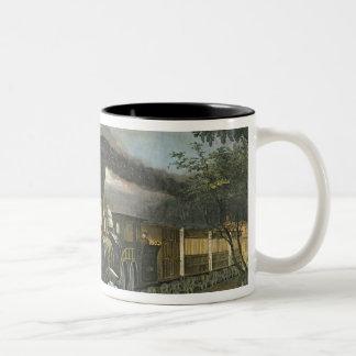 Sneltreinen van de Bliksem, 1863 Tweekleurige Koffiemok