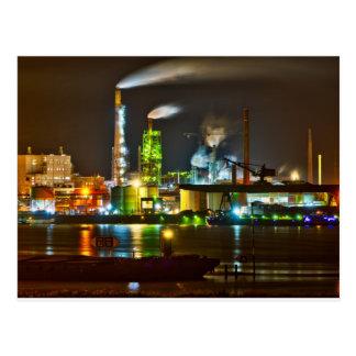 Snoep gekleurde fabriek briefkaart