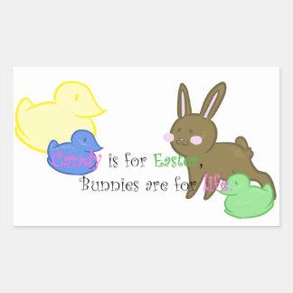 snoep voor de sticker van Pasen