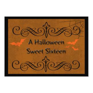 Snoepje Zestien van Halloween 12,7x17,8 Uitnodiging Kaart