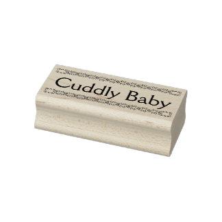 Snoezige baby rubberzegel, nieuwe babyzegel rubberenstempel