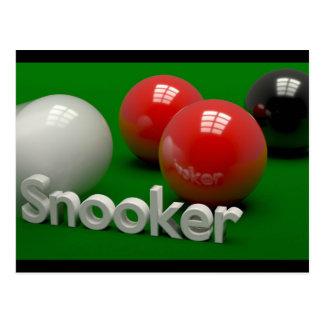 Snooker Briefkaart